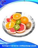 Partito e famiglia creativi del piatto della frutta del metallo