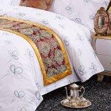 熱い販売の100%年の綿の白い印刷された寝具