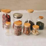 De Koekjestrommel van het Glas van de Kruik van de Chocolade van het Suikergoed van het Glas van de Gift van de Kruik van de Thee van het Glas van de Vorm van het bamboe