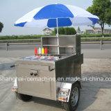 Carro móvel Jy-B1 do cão quente do impulso da mão da rua ao ar livre profissional do aço inoxidável