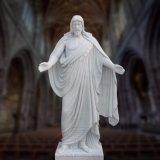 Marmorjesus-Statue-Skulptur, fromme Skulptur T-6898