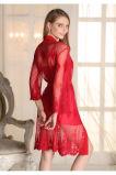 """Pijamas """"sexy"""" do bordado das mulheres por atacado do Nightwear da roupa de noite com almofada Sy10308990"""