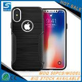 Productos vendedores calientes con la caja de aluminio del teléfono del botón del metal para el iPhone 8 más