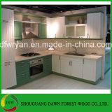Cozinhas personalizadas modulares modernas do gabinete de cozinha da HOME do gabinete de cozinha do PVC
