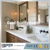 Colore chiaro delle parti superiori di vanità del quarzo della Cina per la mobilia della stanza da bagno