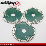 D115mm 다이아몬드 돌 삼각형 이는 터보 절단을 톱날을 보호한다