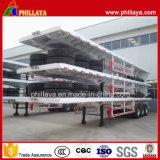 De mechanische Aanhangwagen van het Vervoer van de Container van de Opschorting 40FT Flatbed 60t