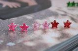 9 pendiente de la estrella del espárrago del cristal del color 8m m para los pendientes de la muchacha