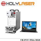 Marcação de logotipo de prata dourada máquina de gravação a laser de fibra de impressão