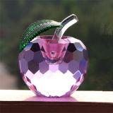 Цветные K9 Crystal Apple для рождественские украшения