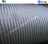 Galv. corde du fil d'acier 6X12+7FC