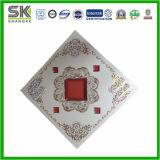 Hot Stamping falso techo de la impresión de plástico de tamaño 7*595*595mm