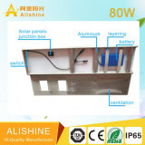 Patio exterior integrado de 80W LED Lámpara de luz solar calle