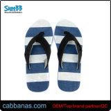 Полосатый дешевые Fashion-синими Тхонг Шлепанцы для мужчин