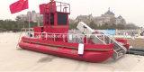 El trabajo de aluminio de 9m Pontoon Boat para borrar la basura y Extinción de Incendios