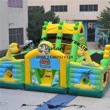 Città gonfiabile di divertimento dell'aereo di aria per il gioco dei bambini