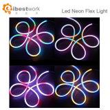 24 Flexneonlicht-Streifen-reines Weiß des Volt-LED, wasserdichtes beständiges, Zubehör umfaßte