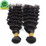 L'homme noir naturel Remy Soft Double trame frisés Cheveux humains indiens de la trame