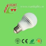 E27/B22 5W 플라스틱 덮개 알루미늄 LED 램프 전구