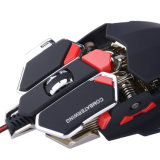10 Breathing LEDのボタン4800のDpi Adjustable USB Wired Gaming Optical Mouse