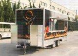 부엌 용암 바위 부엌 차량 대나무 식사 식사 트레일러