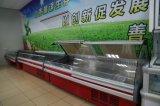 De commerciële Showcase/de Delicatessenwinkel van het Verse Vlees van het Voedsel van de Koeling materiaal-Hete Beste Verkopende in tegenovergestelde richting