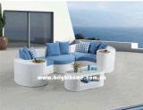 白いカラー部門別のソファーの屋外の庭の家具Bp873A