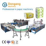 Facial totalmente automática un pañuelo de papel sellado en caliente de la línea de producción de embalaje