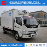 Mini nevera congelador camiones de transporte en frío 2,5 tonelada Gvw cuadro refrigerados furgones en venta
