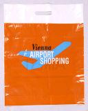 Erstklassige LDPE gedruckte gestempelschnittene Träger-Plastiktaschen für Kleider (FLD-8556)