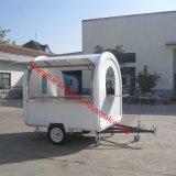車輪を持つ移動式Food CartヴァンKiosk Truckを販売する屋外の電気三輪車