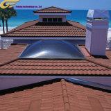 Matériau de construction en pierre de couleur ronde en métal recouvert de tuiles du toit