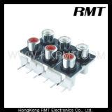 Разъему AV/ контактный разъем/разъем RCA (AV6-8.4-10)
