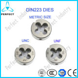DIN223 Filetage UNC Masse pleinement HSS Round Dies