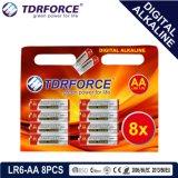 BSCI (LR6-AA 8PCS)の1.5Vデジタルのアルカリ電池の乾電池
