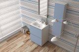 Mobília de mármore fixada na parede do banheiro da vaidade de superfície contínua do gabinete de banheiro