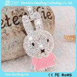 かわいいウサギの形の宝石類USBのペン駆動機構(ZYF1911)