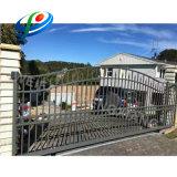 De aangepaste Moderne Poort van de Omheining van het Aluminium Glijdende met het VoorHuis van Ontwerpen