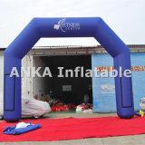 Arco inflável azul para publicidade exterior com ventilador
