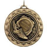 昇進のギフトは銀製のソフトボールメダルロゴの市場のペンキの引用をカスタマイズした