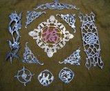 Plantas ornamentais em ferro forjado decorativo do painel de flores para a Régua