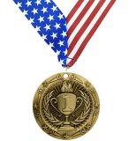 prima seconda terza medaglia di bronzo dell'argento dell'oro del posto