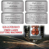 Máquina de corte a laser de carbono 500W / 1000W para Ss e aço carbono