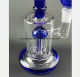 Blauer rauchendes Gefäß-Filter-Glaswiederanlauf