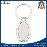 Anello portachiavi su ordinazione dello spazio in bianco di alta qualità con il regalo del ricordo
