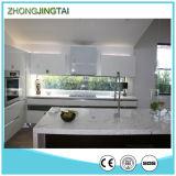 Bancada branca barato Polished nova da cozinha de quartzo de Milão do projeto