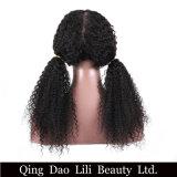 아기 머리 130% 브라질 비꼬인 곱슬머리 가발 Non-Remy를 가진 흑인 여성을%s 전 뽑아진 가득 차있는 레이스 사람의 모발 가발