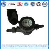 Tipo seco contador del Multi-Jet plástico de nylon negro del agua de Dn15-25mm