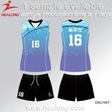 Healong passte Entwurfs-Sportkleidung-Sublimation-Volleyball Jersey an