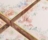 Personalizar el estilo europeo elegante caja de regalo de la impresión de flores para la boda a favor de embalaje de regalo 23cm*23cm*8cm.